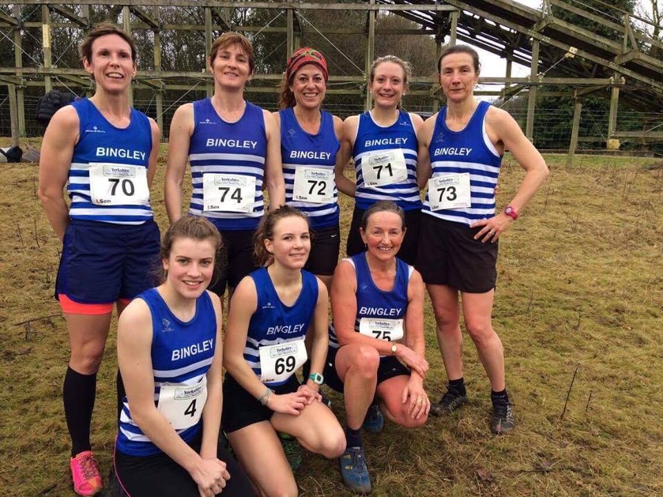 Bingley Senior ladies Cross Country – West Yorkshires and Yorkshire Championships, Lightwater Valley Sat 7th Jan 2017