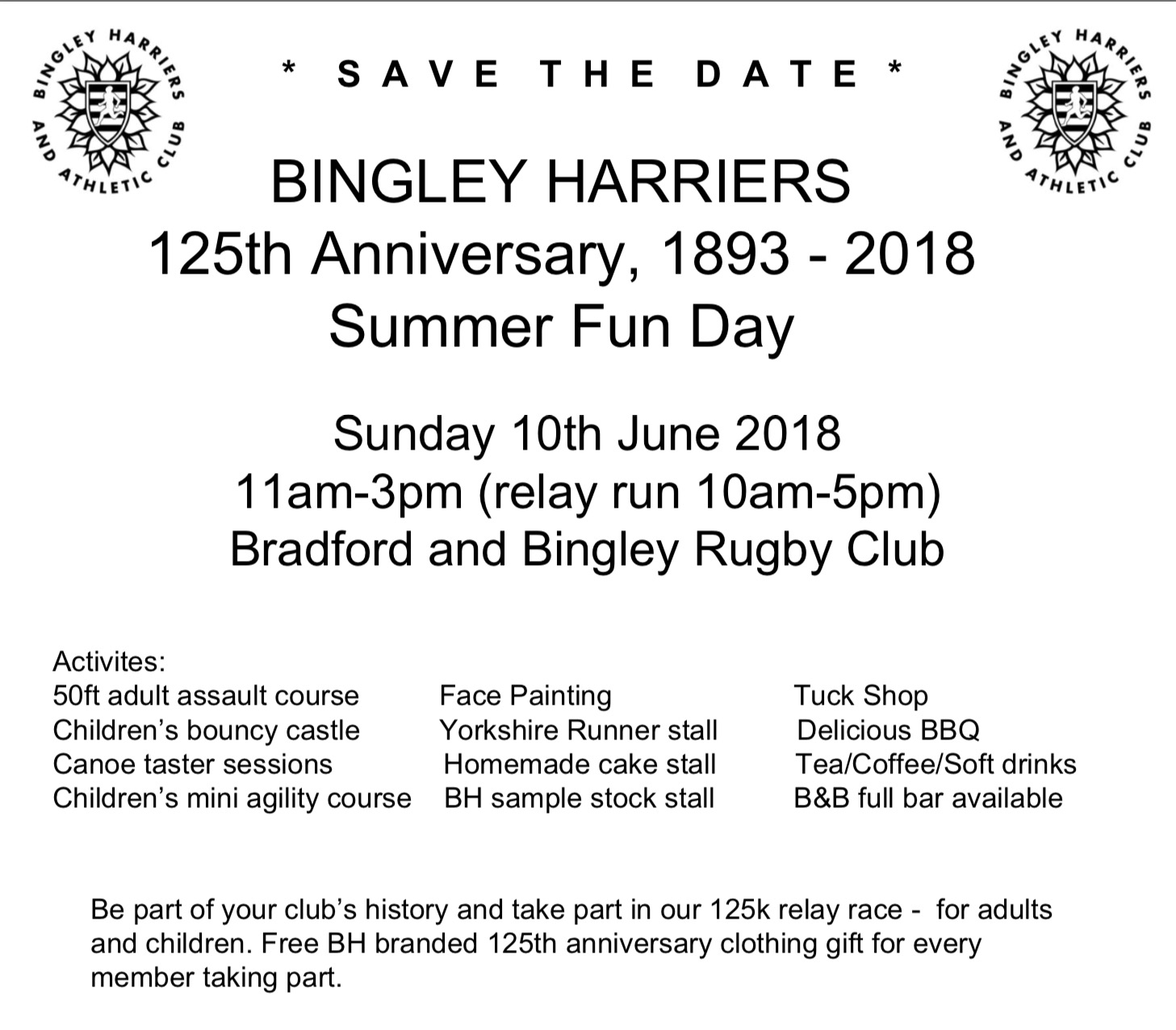 125th Anniversary – Summer Fun Day